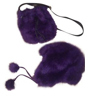 Aéropostale Adorable Vegan Fur Winter Hat w/ Pom Poms