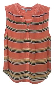 Collective Concepts Top Peach, pink, striped