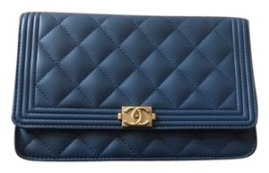 Chanel Woc Navy Wallet On Chain Cross Body Bag