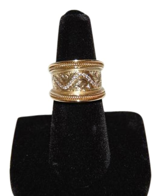 Boutique Europa Hand Made 18 Karat Yw Gold and Diamonds Eternal Wave Life. Size 52. Ring Boutique Europa Hand Made 18 Karat Yw Gold and Diamonds Eternal Wave Life. Size 52. Ring Image 1