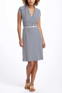 Anthropologie short dress Black + White And Striped on Tradesy