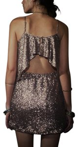 Lovers + Friends Holiday Party Nye Cocktail Embellished Beaded Shimmer Classic Free People Dress