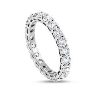 2.33 CT Natural Round Diamond Eternity Band in Solid 18k White Gold