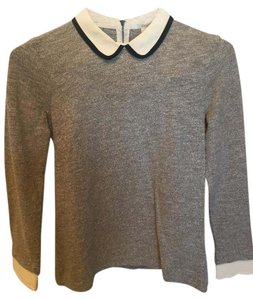 J.Crew Peter Pan Collar Grey Gray Sweater