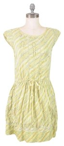 Anthropologie short dress Pistachio Green Meadow Rue Eyelet Embroidered Belted on Tradesy