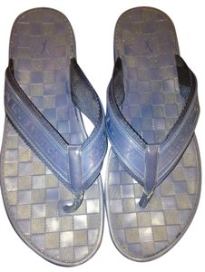 Louis Vuitton Flip Flops Rubber Resort Mens navy blue Sandals