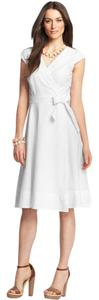 Ann Taylor short dress White A-line on Tradesy