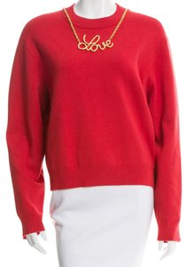 Moschino Love Gold Hardware Chain Longsleeve Embellished Sweater