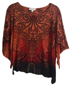 Dress Barn Top Rust and Black