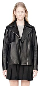 Alexander Wang Leather Boyfriend Lambskin Leather Jacket