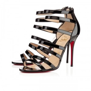 Christian Louboutin Strappy Cage Mariniere Black Sandals