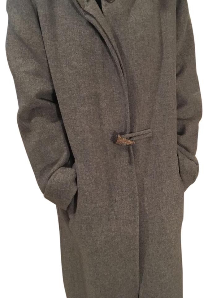 factory price fcaa4 0f5f9 Grey Cashmere Hooded Coat
