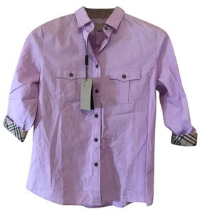 Burberry Brit Button Down Shirt Mauve