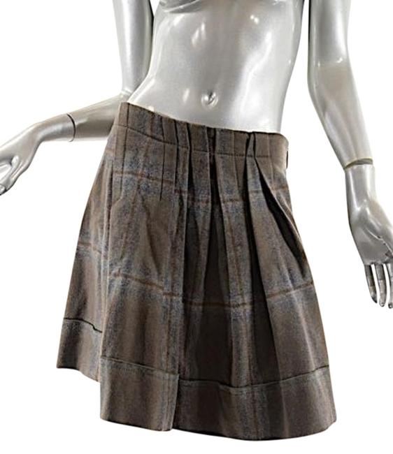Preload https://img-static.tradesy.com/item/20330745/brunello-cucinelli-taupe-grey-brown-taupegraybrown-plaid-pleated-wool-blend-knee-length-skirt-size-4-0-1-650-650.jpg