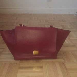 Céline Satchel in Deep Red
