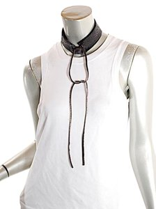 Brunello Cucinelli Brunello Cucinelli hand crafted Snakeskin, Silk & Leather Choker