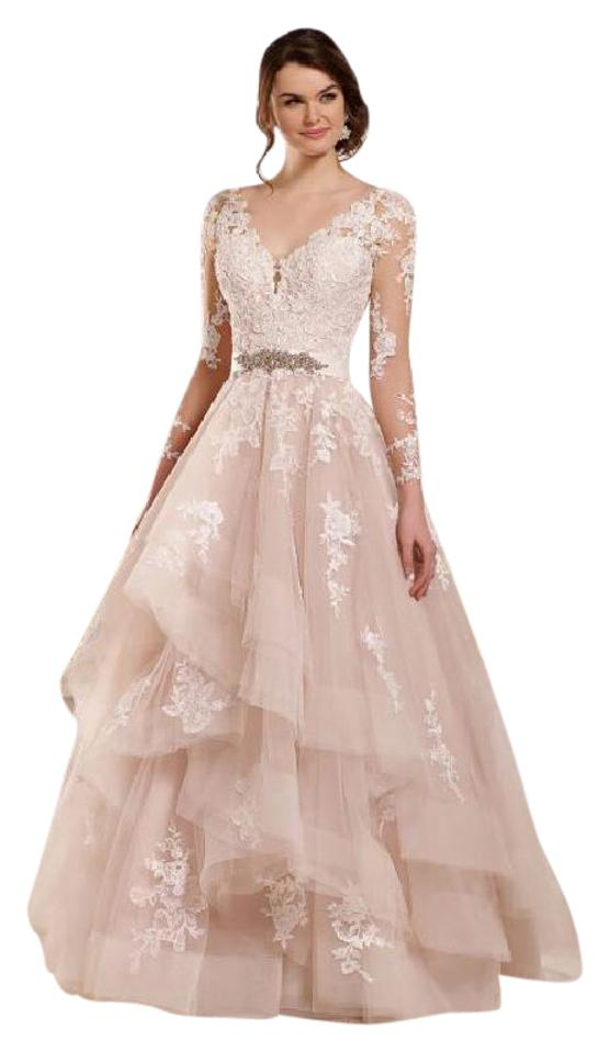42eeb7d75be1 Essense of Australia Ivory/Moscato Lace and Tulle D2186 Modern Wedding Dress