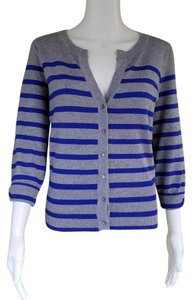 Genny Striped Knit 3/4 Sleeves Cardigan