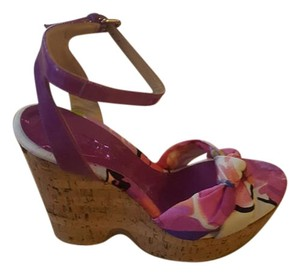 Jimmy Choo Floral Spring Fucia Wedges