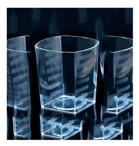 Emi Yoshi Tumblers Clear Plastic Rocks Square 98 Total Brand New