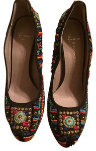 Donald J. Pliner Stiletto Beaded multi-color Pumps