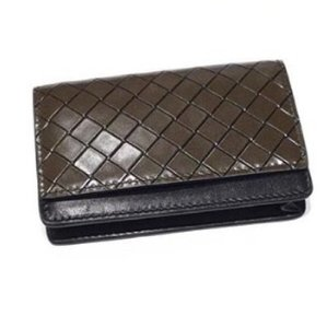 Bottega Veneta Flap & Snap Card Wallet