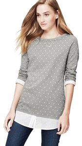 Ann Taylor LOFT Top Gray, White