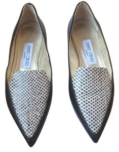 Jimmy Choo Black patent/spotted leather Flats