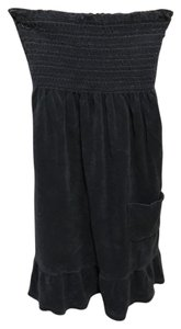 Juicy Couture short dress Slate blue Terry Strapless on Tradesy