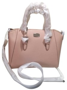 Michael Kors Jet Set Item East West Snap Pocket Jet Set Travel Tote in ballet pink silver HW
