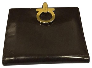 Salvatore Ferragamo dark chocolate brown Clutch