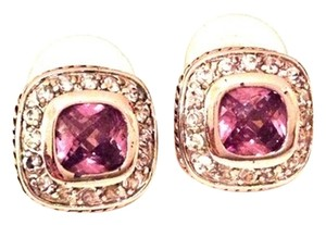 Other Silver & Amethyst Earrings with Rhinestones