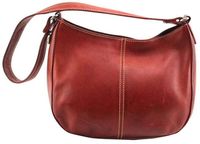Item - Small Red Leather Hobo Bag