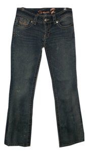 7 For All Mankind Distressed Boot Cut Jeans