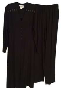 Black Pants Suit with Long Jacket (Size 4)