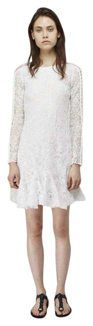 Item - White Magda Winter Lace Mid-length Night Out Dress Size 6 (S)