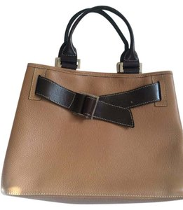 Welcome Argentina Leather Satchel in Tan and brown