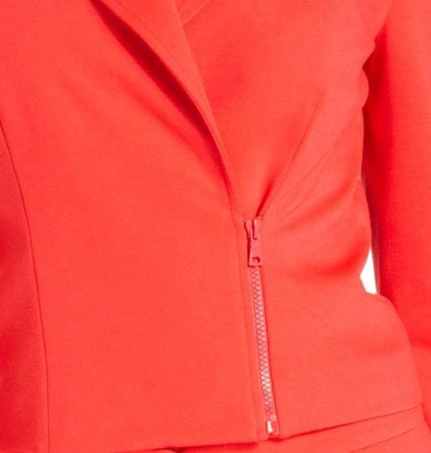 Ellen Tracy Sophisticated Sleek Cherry Red Jacket