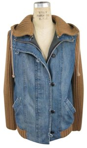Habitual Denim Lined Hood BLUE Womens Jean Jacket