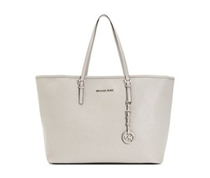 Michael Kors Jet Set Saffiano Leather Tote in Grey