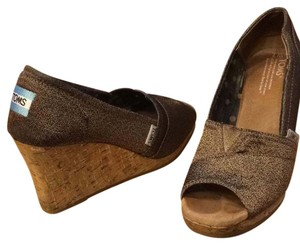 TOMS gold Wedges