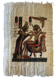 Other Egyptian Papyrus Painting; Tutakhamun & Ankhesenamun [ Roxanne Anjou Closet ]