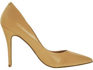 Charles by Charles David Leather Stiletto Nude Beige Pumps