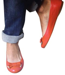 Max Mara Leather Red Flats