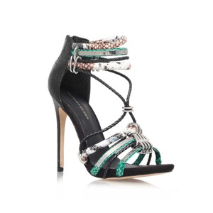 KG Kurt Geiger Strappy Metallic Snake Leather Sandal Native Pumps