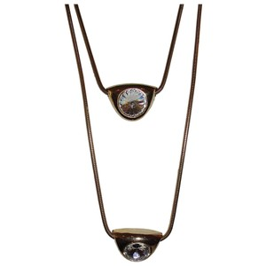 Lanvin Lanvin Double Headlight Pendant Necklace