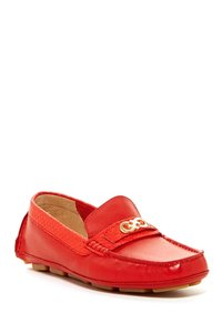 Cole Haan Moccassins Loafers Leather Snake Red Flats