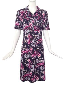 Diane von Furstenberg short dress Black/ pink/ white on Tradesy