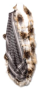 Gucci * Gucci Fur-Trimmed Wool & Silk Shawl