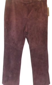 Other Trouser Pants plum suede